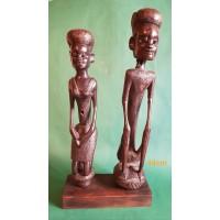 """Afrikietiška skulptūra  juodmedis """"VYRAS IR MOTERIS"""" 44cm"""