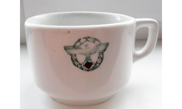 WW2 kavos puodelis policija-Ryga