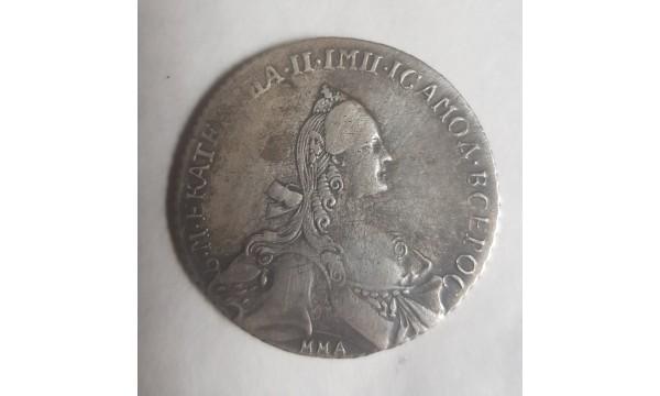 RUBLIS JEKATERINOS CARINĖ RUSIJA 1768 m